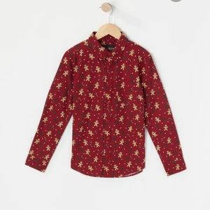 NWT Gingerbread Christmas blouse